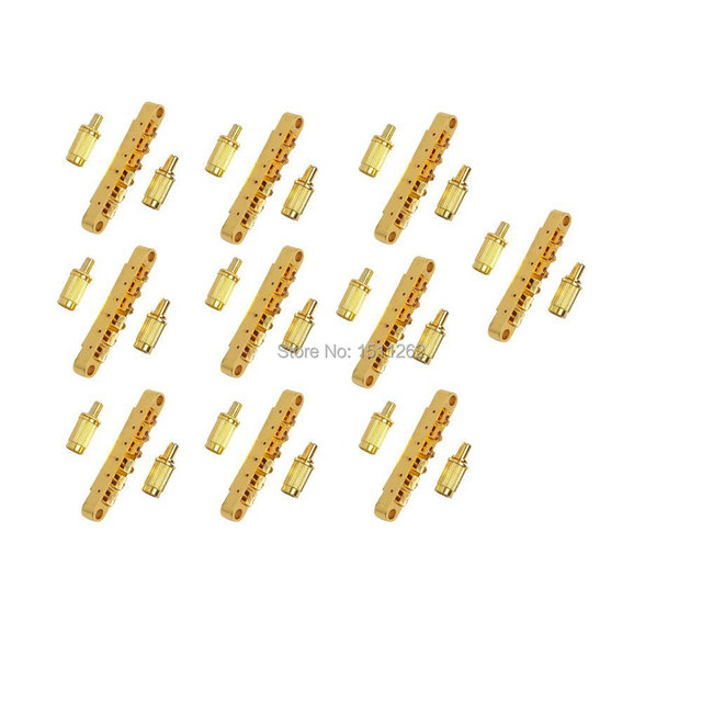 US $120 0 |ABR 1 Style Tune o matic Bridge Roller Saddle for Gibson Paul  Electric Guitar Replacement, Gold(Pack of 10)-in Guitar Parts & Accessories
