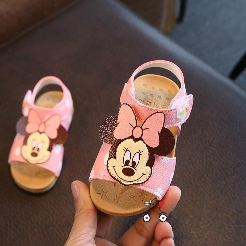 9218cc438 2019 New Children s Shoe PU Leather Bebe Girls Sandals Summer 1 2 3 Years  Old Toddler Girls Shoe Cute Cartoon Style Dropshipping-in Sandals   Clogs  from ...