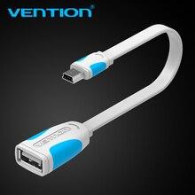Vention-Adaptador de Cable de datos Mini USB 2,0 OTG, 10cm/25cm, macho a hembra para tableta, PC, MP3, teléfono móvil y GPS
