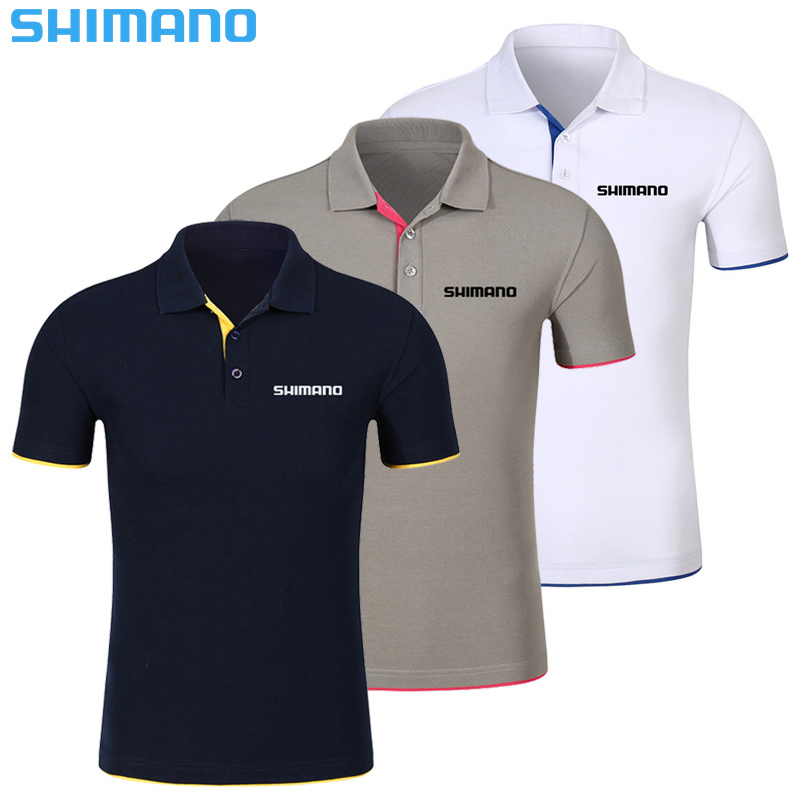 SHIMANO Summer Fishing POLO Quick-Drying Breathable Fishing Clothes Anti-UV Sun Protection Short Sleeve Fishing Clothing