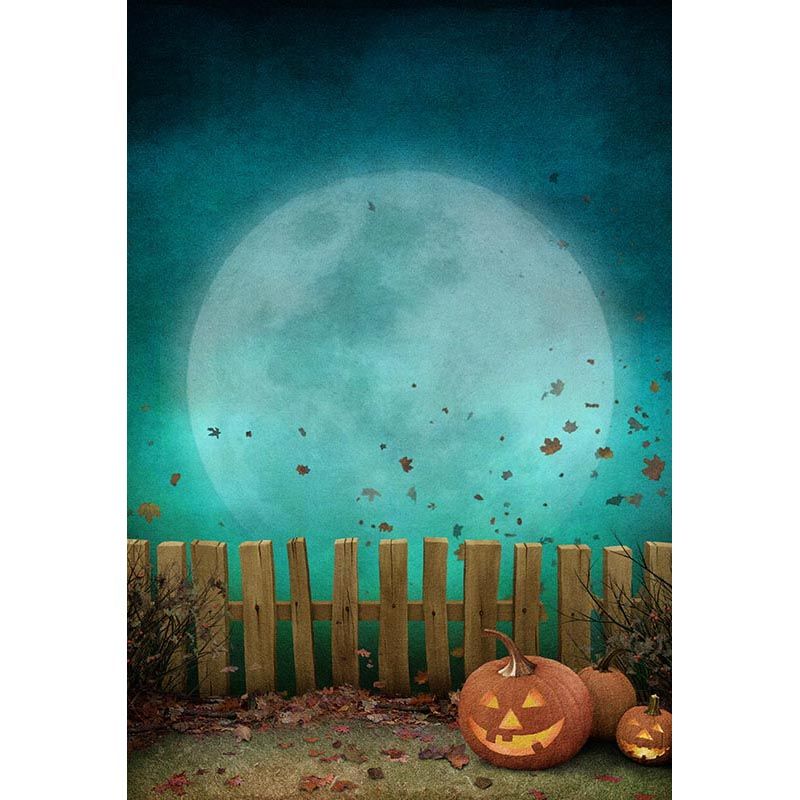 Custom Photography Backdrops Props Halloween day Wooden Floor Moon Pumpkin theme Photo Studio Background HA-262 allenjoy background for photo studio full moon spider black cat pumpkin halloween backdrop newborn original design fantasy props