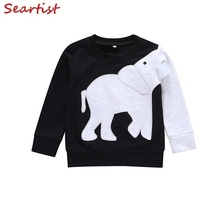 Seartist  shirt 2019 New Baby Sweatshirt Black Spring Sweater T-shirt Tops Boy Clothes Children Clothing Coat 25