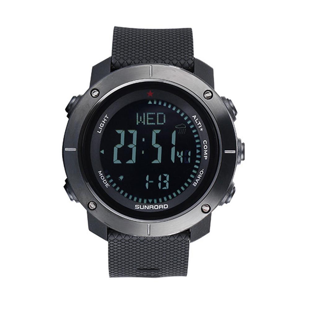 Fashion Sports Men Multi functional Air Pressure Altimeter Alarm Compass Digital Watch Men Watch Clock Gift