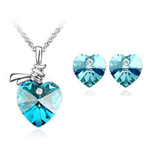 Австрийский кристалл сердце кулон Модный комплект ювелирных