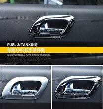 Автомобильные аксессуары ABS хромированной отделкой интерьера Ручки крышки украшения для Peugeot 3008 2012 2013 2014 2015