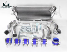 FIT:93 94 95 96 97 MAZDA RX7 FD3S FMIC FRONT MOUNT INTERCOOLER + PIPING TURBO silicone hose color Blue brand CSK