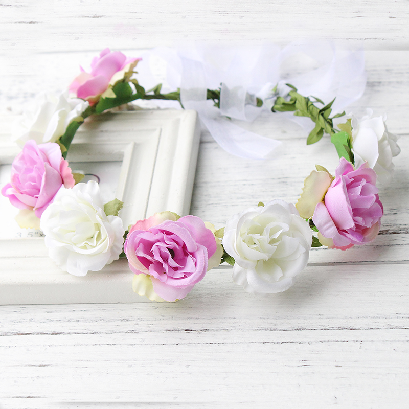 Decoration Artificial Peony Flowers Garland plastic frame Flower ...