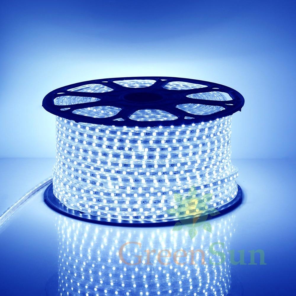 Blue Color Led Strip Light 20 100M 60 LEDs meter Ultra Bright 5050 SMD LED Outdoor