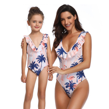 Swimsuit Girls One Piece Swimwear tree print Bandage Bodysuit Children Beachwear Sports Swim Suit Bathing girls clothes
