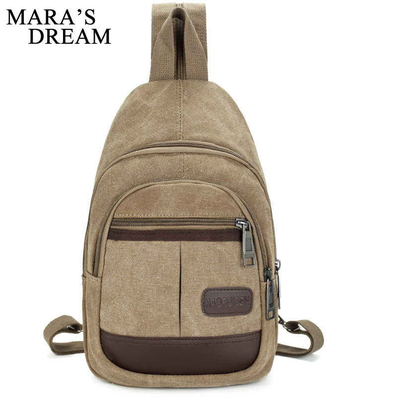 Mara's Dream Canvas Chest Bag Pack Men Backpack Shoulder Bags Male Travel Backpack Multifunction Small Bags Men Back Pack Bag man canvas chest bag fashion messenger casual travel chest bag back pack men s single shoulder bags small travel chest pack