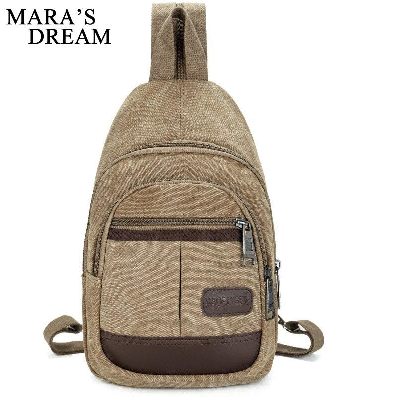Mara's Dream Canvas Chest Bag Pack Men Backpack Shoulder Bags Male Travel Backpack Multifunction Small Bags Men Back Pack Bag