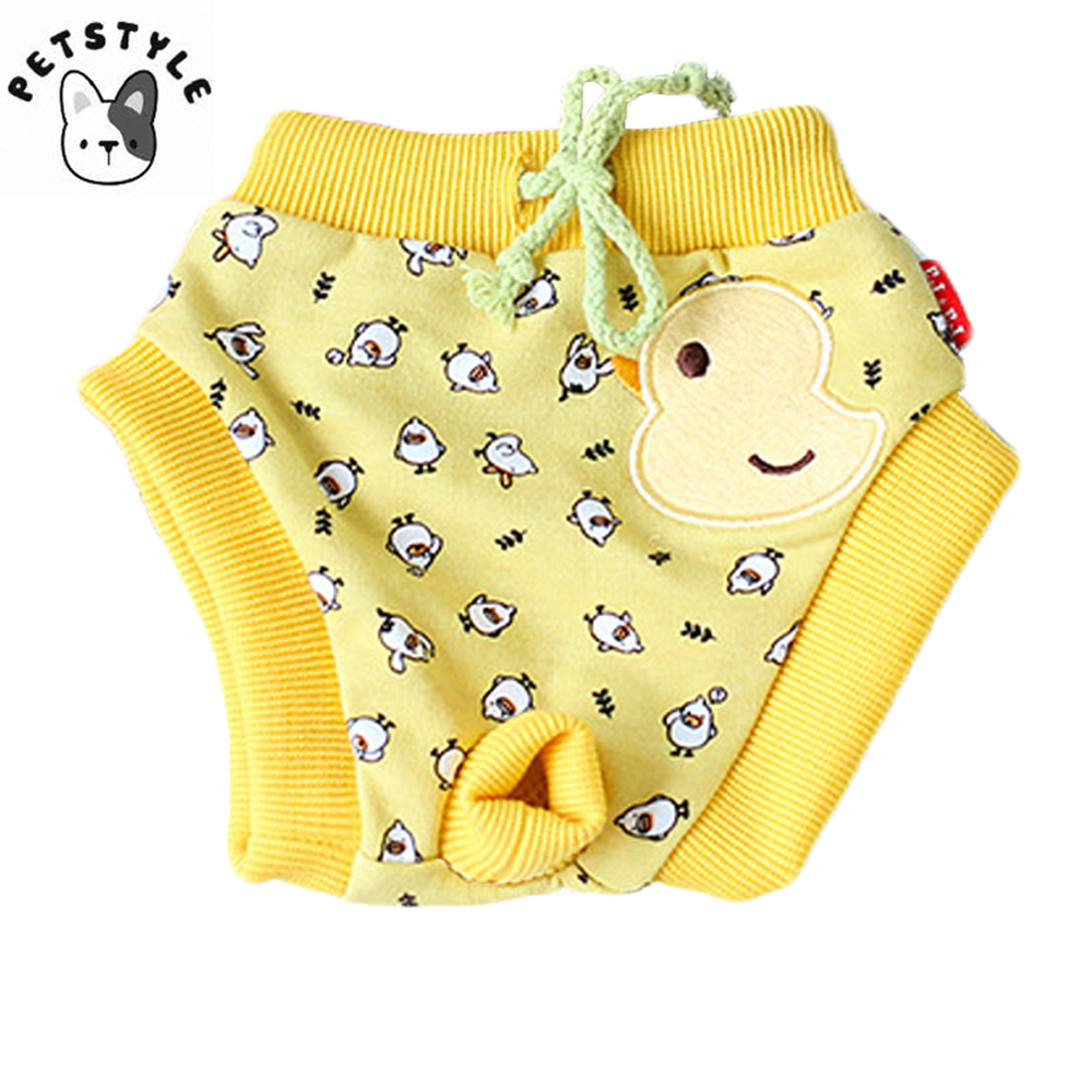 Cartoon Pet Puppy Dog Diaper Sanitary Physiological Pants Washable Small Female Dog Shorts Panties Underwear Briefs DOGGYZSTYLE