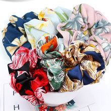 1PC Adjustable Flower Hair Rope Ties 9 Colors Soft Scrunchie Ponytail Headband Print Elastic Floral Bands Comfortable