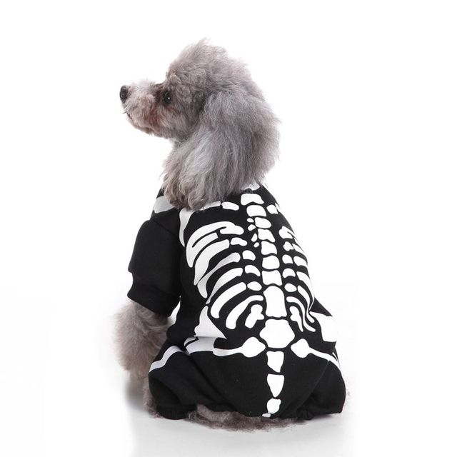 Halloween Cotton Skull Head Pet Jumpsuit Dog Clothes ghost Halloween Costume Dress Up Clothing Dog Clothes  sc 1 st  AliExpress.com & Halloween Cotton Skull Head Pet Jumpsuit Dog Clothes ghost Halloween ...