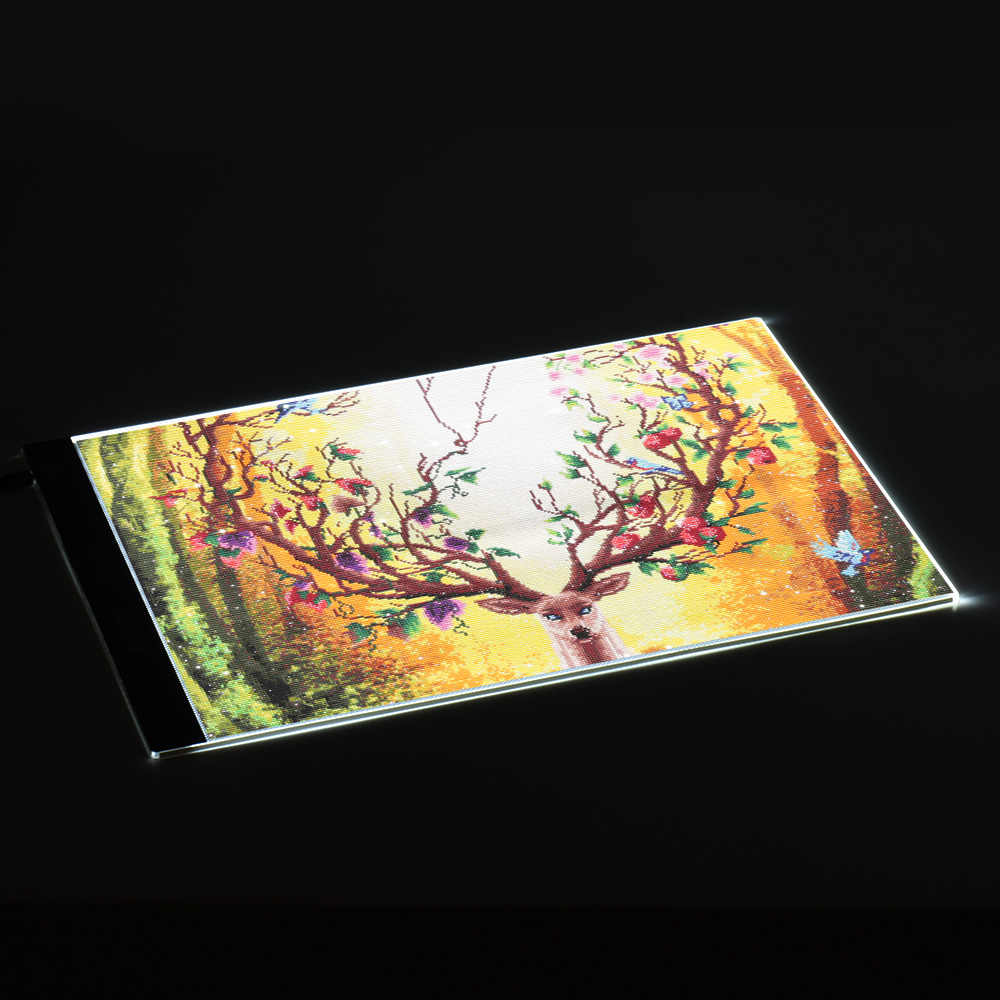 24 cm 15 pulgadas LED Artista Stencil Board Mesa de trazado de dibujo Pantalla Light Box Pad Tablero de copia LED Untra-thin Design A4-DW-K Aibecy A4 35.2