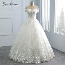 아름 다운 자 수 Appliques 공주 웨딩 드레스 진주 구슬 V 목 플러스 크기 아랍 웨딩 드레스 신부 가운 WX0109