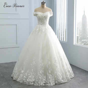 Beatiful Embroidery Appliques Princess Wedding Dresses 2019 pearls Beads V Neck Plus Size Arab Wedding Dress Bridal Gown WX0109 - DISCOUNT ITEM  33% OFF All Category