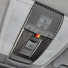 Углеродного волокна настольная лампа Панель декоративная крышка Накладка для Mercedes-Benz GLK X204 2008-2015 автомобиль аксессуары для интерьера