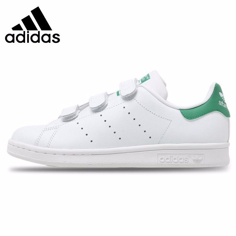 <font><b>Adidas</b></font> Stan Smith <font><b>Original</b></font> Skateboarding <font><b>Shoes</b></font> Women Outdoor Casual Sports Sneakers White Black #S82702 image
