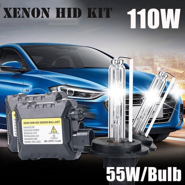 12V 55W Xenon Bulb H7 H1 H3 H4 H11 881 9005 9006 xenon ballast 4300k 5000k 6000K 8000K HID Lamp Car Headlight H7 xenon