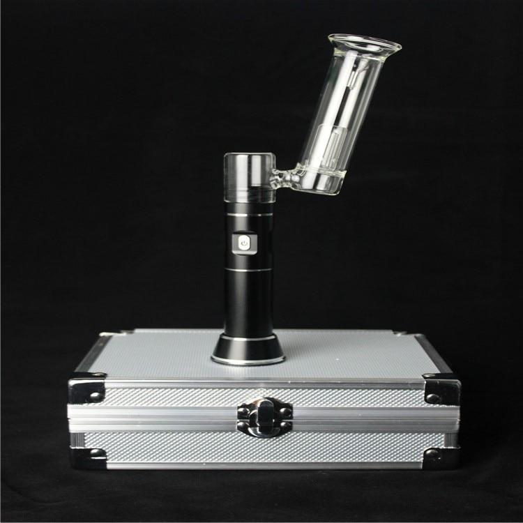 ФОТО High Quality H-enail Kit E-Cigarette Atomizer Vape Pen Portable  Huge Vapor With 18650 2500mAh Battery dry herb wax tobacco box