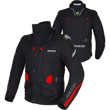 BENKIA Winter Motorcycle Jacket warm linning Motorbike Racing Jacket Moto Motocross Protective Gear With Detachable Liner