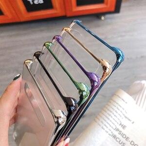 Image 2 - SAMSUNG orijinal telefon kapak için Samsung Galaxy S10 S10Plus S10 X S10E SM G9700 SM G9730 G9750 şeffaf sert kabuk telefon kılıfı