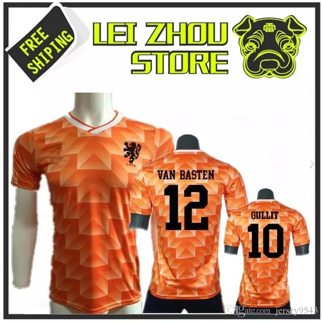 d5eb1e5e211 1988 Retro Version Orange Vintage Netherlands home Soccer jersey best  quality Three Musketeers Gulitefan Basten football shirt