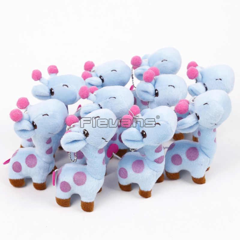 135bbcf4704 Kawaii Giraffe Plush Toys Pendants Cartoon Animal Soft Stuffed Dolls 10pcs  lot 4 Colors