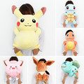 AIBOULLY Large Size 35cm Ditto Pikachu Bulbasaur Squritle Clefairy Cartoon Anime Kawaii Stuffed Plush Pillow Doll # SJ170228