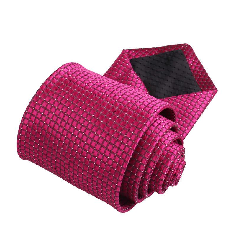 Klasyczne krawaty w kratę dla mężczyzn garnitury casualowe krawat Gravatas w paski niebieskie męskie krawaty na formalne na wesele 8cm szerokość krawaty męskie
