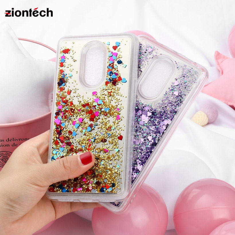 Soaptree Cases For Xiaomi Redmi 4X 5 Plus Case Back Cover Redmi Note 4X Dynamic Mirror Liquid Quicksand Covers in Fitted Cases from Cellphones Telecommunications