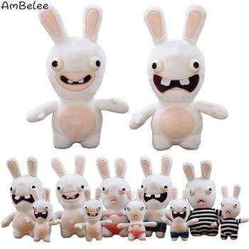 Creative Rabbit Bunny Stuffed Toys Lehman Rabbit Doll Crazy Rabbit Stuffed Children Toys Funny Animal Doll Scream Rabbit Gift