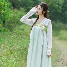 Modern costume chest jacket skirt embroidered Chinese daily Duijin wind Hanfu  (jacket + skirt)