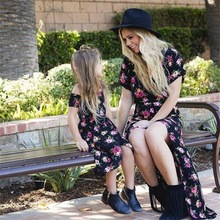 kids dresses for girls matching family outfits mother daughter clothes summer fashion new mom and baby floral print