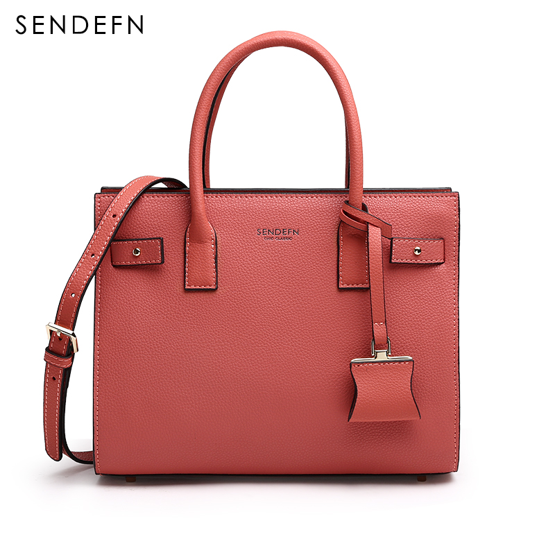 Sendefn Elegant Hand Bag Large Capacity Women Bag With Zipper Women leather Handbags Adjustable Strap Lady Shoulder Bag For iPad