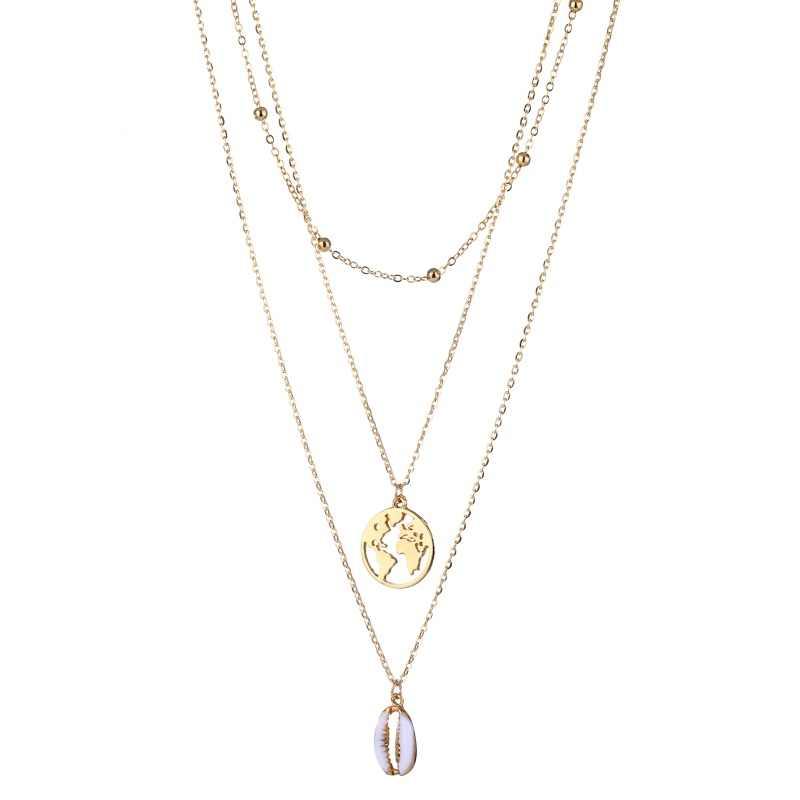 Vienkim, новинка 2019, ожерелье-чокер в виде ракушки и подвеска, женское, бохо, золотой, серебряный цвет, многослойное ожерелье для женщин, девушка, Ювелирное Украшение с морскими мотивами