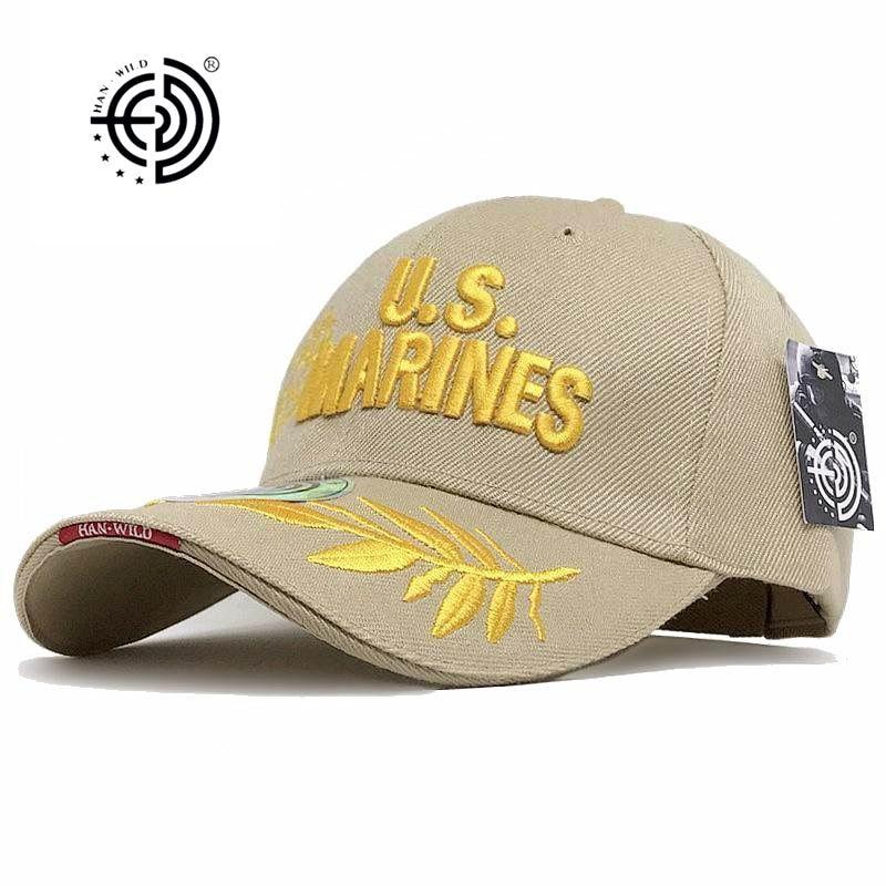 Prix pour [HAN SAUVAGE] marque Marines Chapeaux Extérieur NOUS Tactique Casquette de baseball Casual Mens Armée Caps Lettre Marines Gorras De Beisbol HANWILD