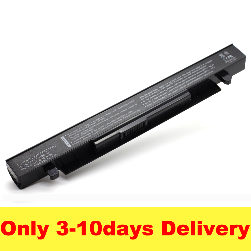 цена на 2600mAh 14.4V Laptop Battery for ASUS A41-X550 A41-X550A X450 X550 X550C X550B X550V X550D X450C X550CA 4CELL SZXX