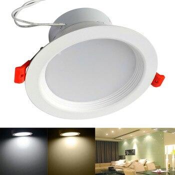 JIawen 10pcs/lot 3W 5W 7W 9W Cool White/Warm white light LED Panel Lights LED Ceiling Lights (AC 85-265V)