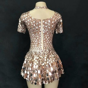 Image 4 - Sexy Pole Dance Clothing Jazz Sequin Wear Women Performance Costumes Dj Singer Stage Clothes Woman Party Outfit QNY466