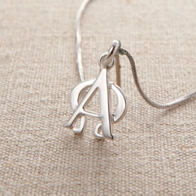 Alpha omega handmade 999 pure silver necklace pendant accessories alpha omega handmade 999 pure silver necklace pendant accessories christmas gift mozeypictures Gallery