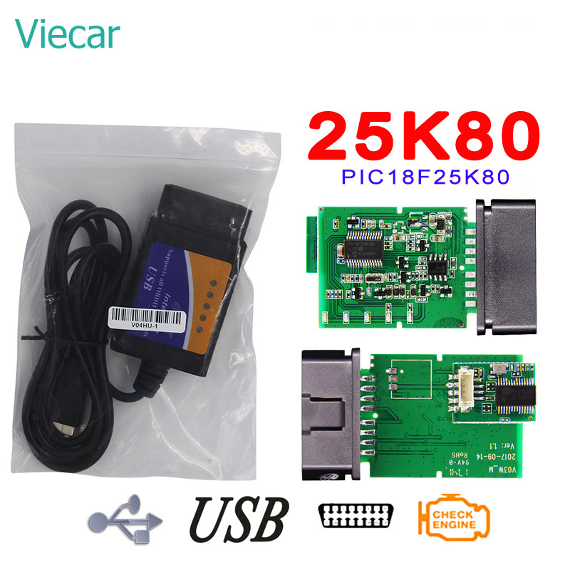 Elm327 USB V1 5 OBD2 Diagnostic Car Auto Scanner Elm 327 USB OBD Diagnostic Scanner For