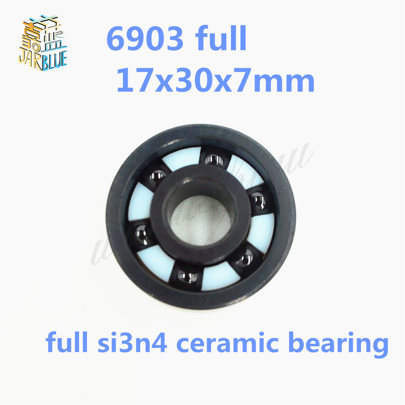 Free shipping 6903 full SI3N4 P5 ABEC5 ceramic deep groove ball bearing 17x30x7mm full complement free shipping 6000 full zro2 ceramic deep groove ball bearing 10x26x8mm p5 abec5