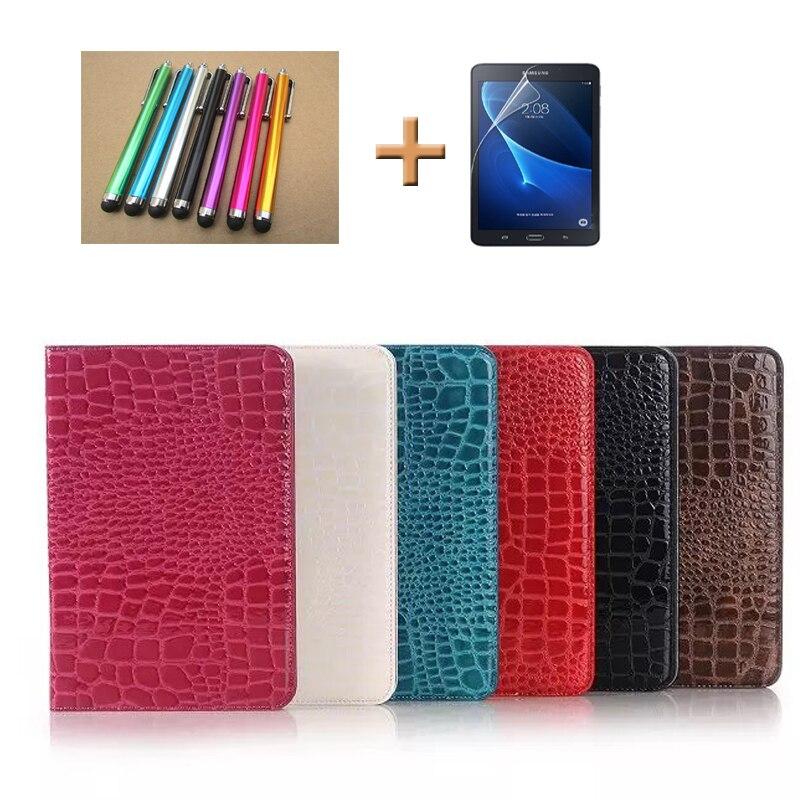 SM P355 Book Case For Samsung Galaxy Tab A 8 0inch T350 T355 Fashion Crocodile Pattern
