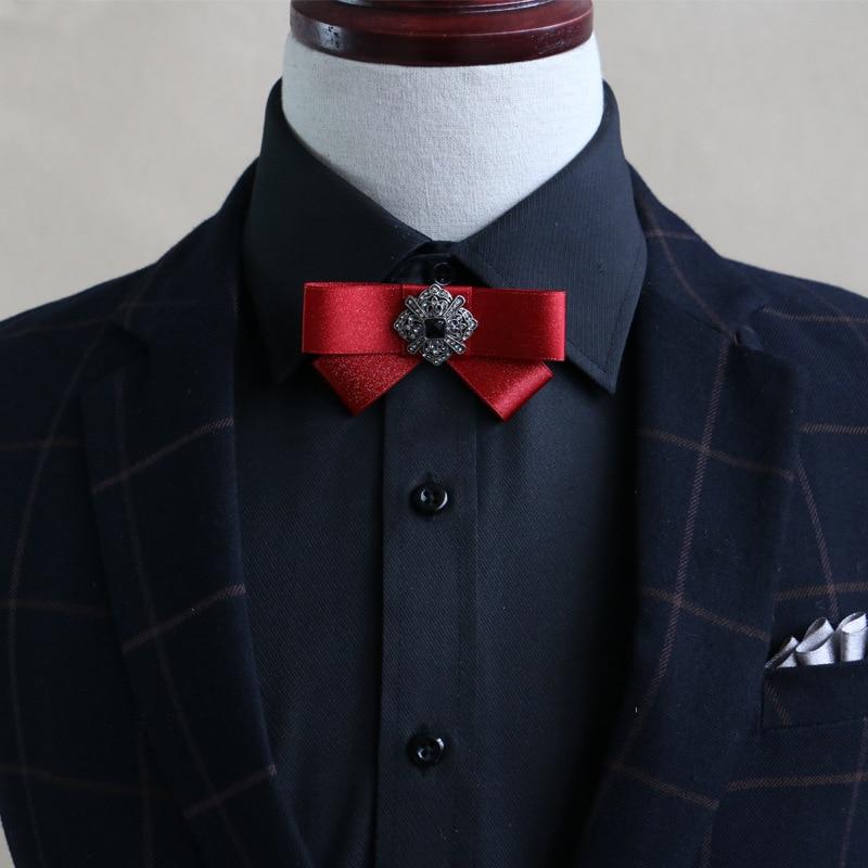 High quality British wind men's small bow tie Fashion wild show diamond accessories bow tie