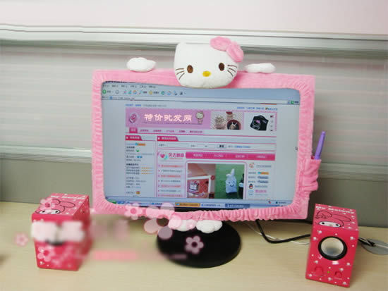 Aliexpress com Buy Special offer Lovely cartoon cover for computer Monitor Hello  Kitty Computer Screen dustproof. Hello Kitty Computer Desk  universalcouncil info