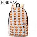 New 2017 Kids Cute Emoji Printing School Bags Children Canvas Backpacks For Teenager Girls Casual Women Laptop Mochila  Rucksack