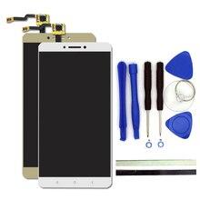 100% новый для xiaomi mi max жк-дисплей + сенсорный экран digitizer замена 6.44 дюйм(ов) mi max сотовый телефон частей с бесплатные инструменты,