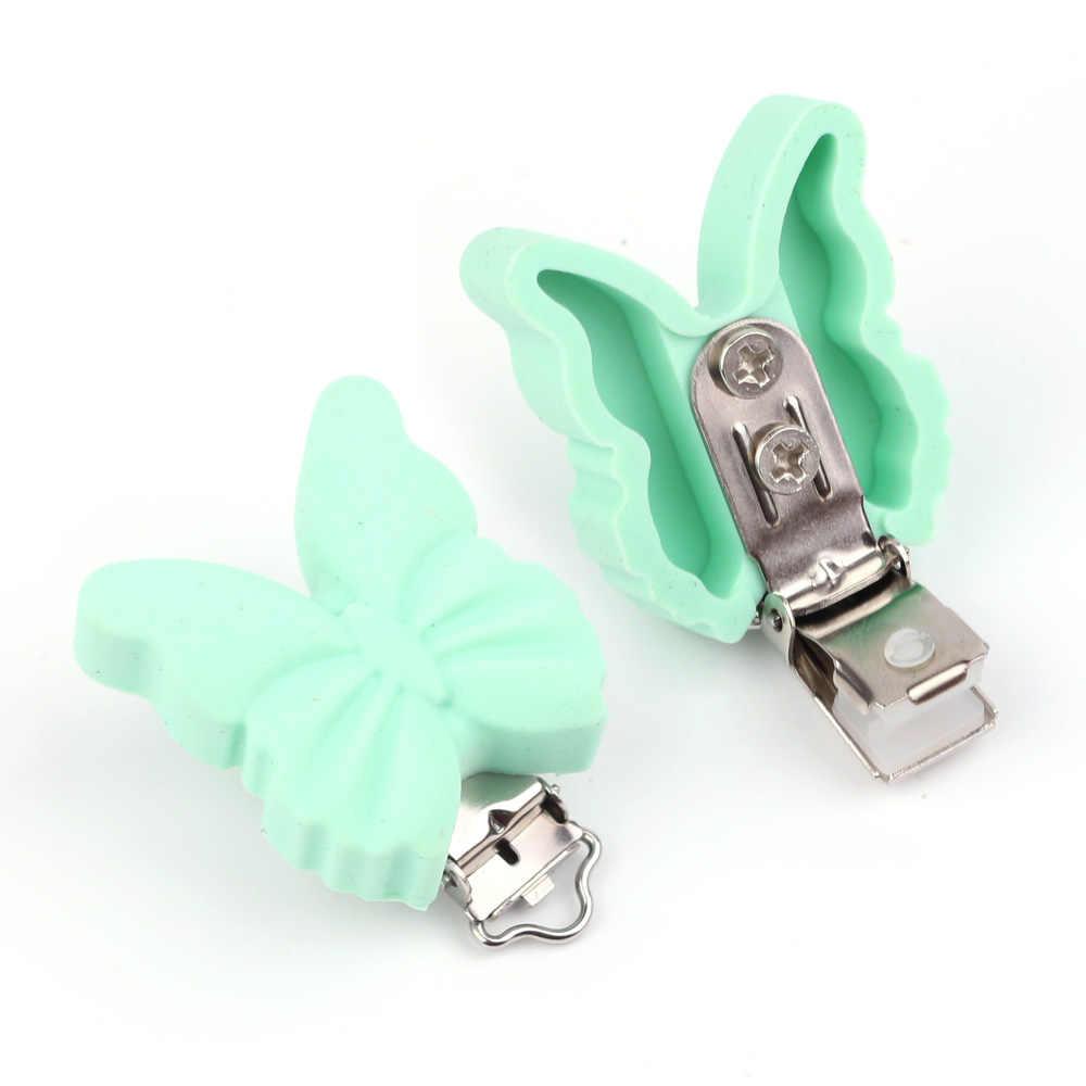 TYRY. HU 10 шт./компл. бабочка пустышка Клип Детские Силиконовые Прорезыватели зубов аксессуары DIY свободный инструмент для бисера ниппель для клипа застежки